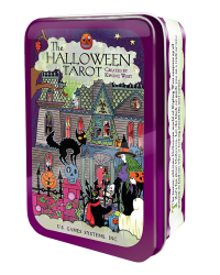Halloween Tarot Cards in Tin Mystic Convergence Metaphysical Supplies Metaphysical Supplies, Pagan Jewelry, Witchcraft Supply, New Age Spiritual Store