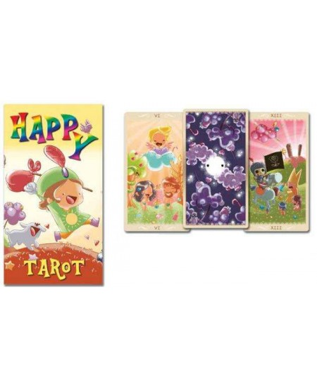 Happy Tarot Colorful Card Deck at Mystic Convergence Metaphysical Supplies, Metaphysical Supplies, Pagan Jewelry, Witchcraft Supply, New Age Spiritual Store