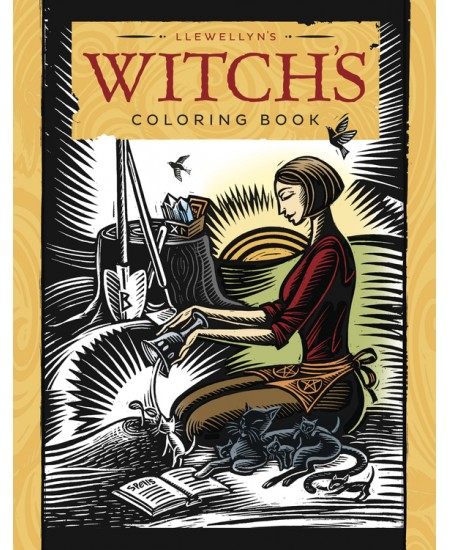 Llewellyn's Witch's Coloring Book at Mystic Convergence Metaphysical Supplies, Metaphysical Supplies, Pagan Jewelry, Witchcraft Supply, New Age Spiritual Store