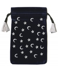Moon & Stars Mini Pouch Mystic Convergence Metaphysical Supplies Metaphysical Supplies, Pagan Jewelry, Witchcraft Supply, New Age Spiritual Store