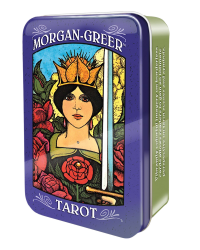 Morgan-Greer Mini Tarot Cards in a Tin Mystic Convergence Metaphysical Supplies Metaphysical Supplies, Pagan Jewelry, Witchcraft Supply, New Age Spiritual Store