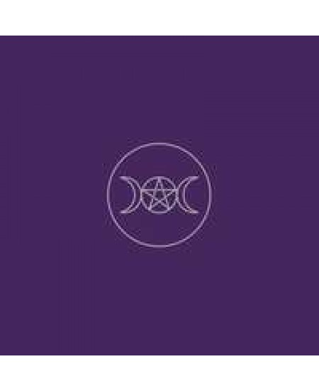 Triple Moon Pentacle Purple Velvet Cloth at Mystic Convergence Metaphysical Supplies, Metaphysical Supplies, Pagan Jewelry, Witchcraft Supply, New Age Spiritual Store