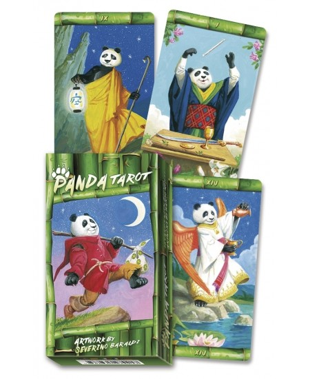 Panda Tarot Cards at Mystic Convergence Metaphysical Supplies, Metaphysical Supplies, Pagan Jewelry, Witchcraft Supply, New Age Spiritual Store