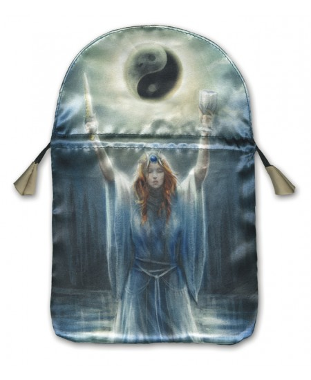 Sacred Priestess Printed Tarot Bag at Mystic Convergence Metaphysical Supplies, Metaphysical Supplies, Pagan Jewelry, Witchcraft Supply, New Age Spiritual Store