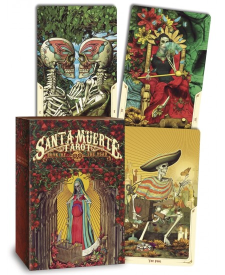 Santa Muerte Tarot Cards - Book of the Dead at Mystic Convergence Metaphysical Supplies, Metaphysical Supplies, Pagan Jewelry, Witchcraft Supply, New Age Spiritual Store