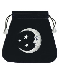 Smiling Moon Embroidered Tarot Bag Mystic Convergence Metaphysical Supplies Metaphysical Supplies, Pagan Jewelry, Witchcraft Supply, New Age Spiritual Store