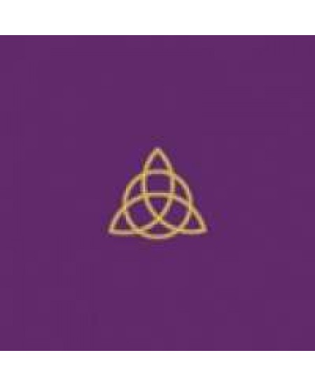 Triquetra Triple Goddess Embroidered Purple Velvet Cloth at Mystic Convergence Metaphysical Supplies, Metaphysical Supplies, Pagan Jewelry, Witchcraft Supply, New Age Spiritual Store
