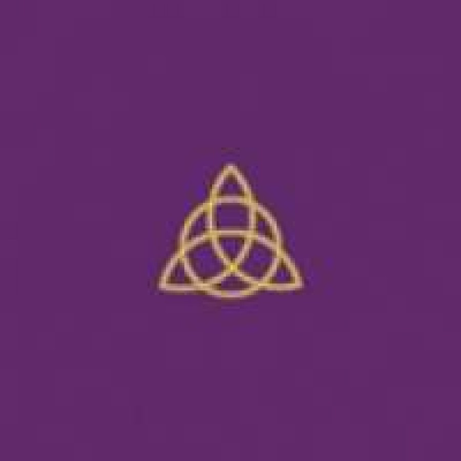 Purple Velvet Triquetra Embroidered Altar Cloth Wicca Charmed