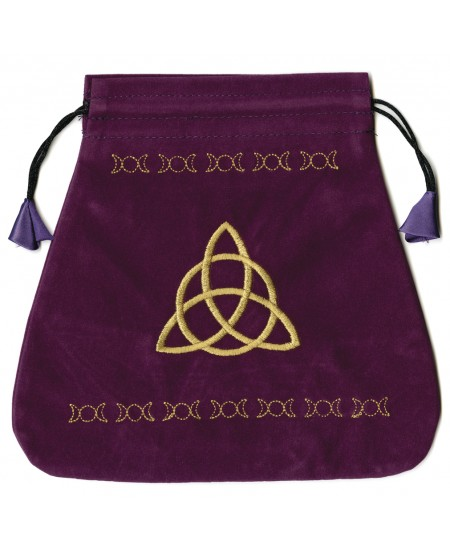 Triple Goddess Velvet Bag at Mystic Convergence Metaphysical Supplies, Metaphysical Supplies, Pagan Jewelry, Witchcraft Supply, New Age Spiritual Store