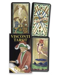 Visconti Mini Tarot Italian Deck Mystic Convergence Metaphysical Supplies Metaphysical Supplies, Pagan Jewelry, Witchcraft Supply, New Age Spiritual Store