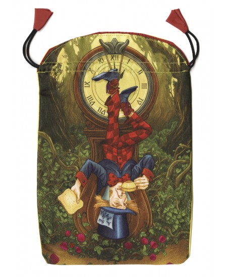 Wonderland Tarot Satin Bag at Mystic Convergence Metaphysical Supplies, Metaphysical Supplies, Pagan Jewelry, Witchcraft Supply, New Age Spiritual Store