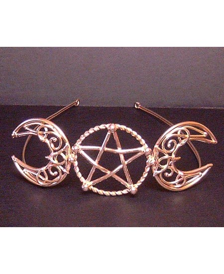 Triple Goddess Large Bronze Circlet at Mystic Convergence, Wicca Supplies, Pagan Jewelry, Witchcraft Supply, New Age Magick