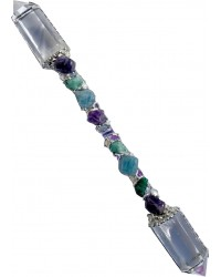 Ask, Believe, Receive Double Terminated Large Crystal Wand