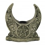 Crescent Moon Pentacle Candle Holder at Mystic Convergence Metaphysical Supplies, Metaphysical Supplies, Pagan Jewelry, Witchcraft Supply, New Age Spiritual Store