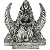 Moon Goddess Pagan Altar Statue
