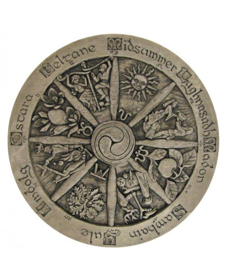 Wiccan Wheel of the Year Plaque at Mystic Convergence Metaphysical Supplies, Metaphysical Supplies, Pagan Jewelry, Witchcraft Supply, New Age Spiritual Store