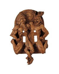 Green Man and Horned God Double Switchplate Mystic Convergence Metaphysical Supplies Metaphysical Supplies, Pagan Jewelry, Witchcraft Supply, New Age Spiritual Store
