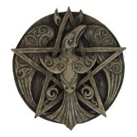 Crescent Raven Pentacle Plaque
