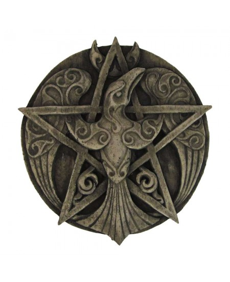 Crescent Raven Pentacle Plaque at Mystic Convergence Metaphysical Supplies, Metaphysical Supplies, Pagan Jewelry, Witchcraft Supply, New Age Spiritual Store