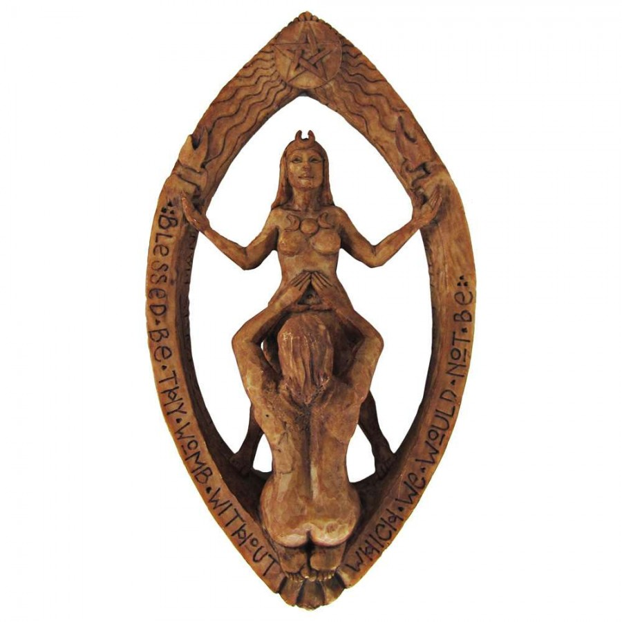 Drawing Down The Moon Wiccan Ritual Plaque Pagan Union