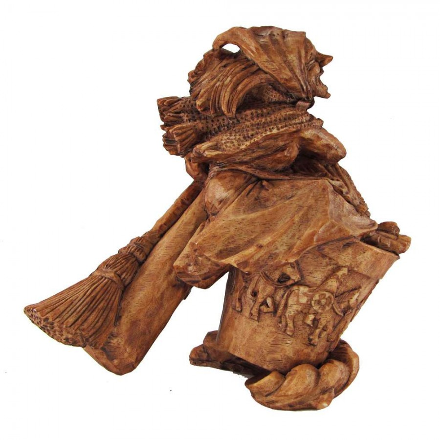Baba Yaga Russian Witch Wild Woman Statue - 7 Inches, Witchcraft, Wicca