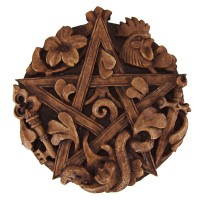 Cimaruta Pentacle Wood Finish Plaque