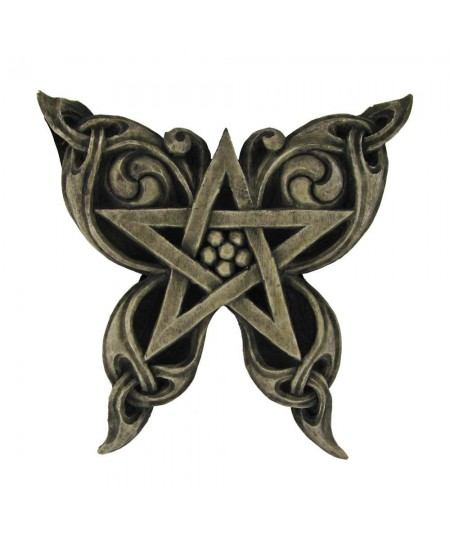 Butterfly Pentacle Wall Plaque at Mystic Convergence Metaphysical Supplies, Metaphysical Supplies, Pagan Jewelry, Witchcraft Supply, New Age Spiritual Store