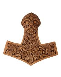 Hammer of Thor Wood Finish Plaque