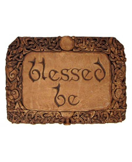 Blessed Be Wiccan Wall Plaque at Mystic Convergence Metaphysical Supplies, Metaphysical Supplies, Pagan Jewelry, Witchcraft Supply, New Age Spiritual Store