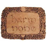 Harm None Wiccan Wall Plaque