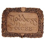Goddess Bless Wiccan Wall Plaque at Mystic Convergence Metaphysical Supplies, Metaphysical Supplies, Pagan Jewelry, Witchcraft Supply, New Age Spiritual Store
