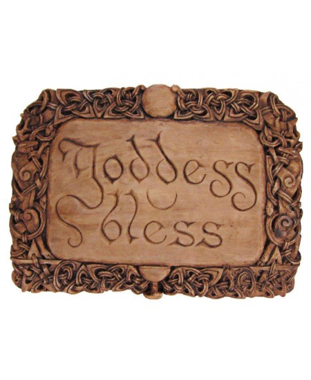 Goddess Bless Wiccan Wall Plaque