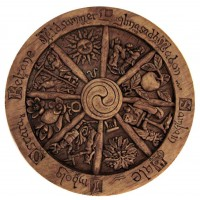 Wiccan Wheel of the Year Small Plaque