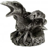 Raven Mini Pewter Candle Holder