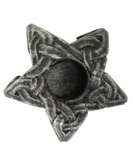 Pentagram Mini Pewter Candle Holder at Mystic Convergence Metaphysical Supplies, Metaphysical Supplies, Pagan Jewelry, Witchcraft Supply, New Age Spiritual Store