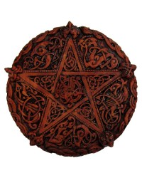 Celtic Knotwork Pentacle Wood Finish Plaque - 5 Inches Mystic Convergence Metaphysical Supplies Metaphysical Supplies, Pagan Jewelry, Witchcraft Supply, New Age Spiritual Store