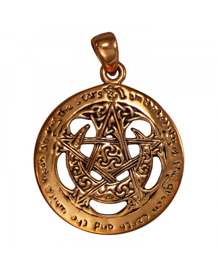 Moon Pentacle Large Cut Out Pagan Pendant at Mystic Convergence Metaphysical Supplies, Metaphysical Supplies, Pagan Jewelry, Witchcraft Supply, New Age Spiritual Store
