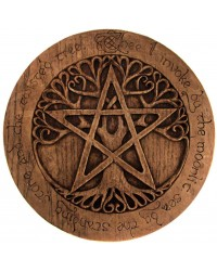 Tree Pentacle Large Plaque Mystic Convergence Metaphysical Supplies Metaphysical Supplies, Pagan Jewelry, Witchcraft Supply, New Age Spiritual Store