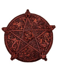 Knotwork Pentacle Large Wood Finish Plaque Mystic Convergence Metaphysical Supplies Metaphysical Supplies, Pagan Jewelry, Witchcraft Supply, New Age Spiritual Store