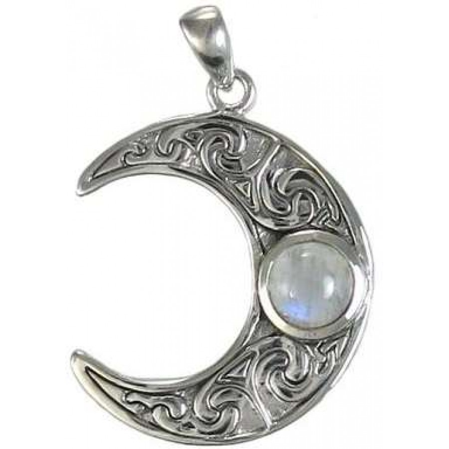 pendant crescent necklace agj yaya moon land products