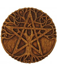 Tree Pentacle Wood Finish Plaque Mystic Convergence Metaphysical Supplies Metaphysical Supplies, Pagan Jewelry, Witchcraft Supply, New Age Spiritual Store