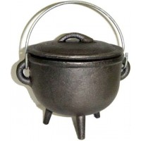 Cast Iron 4.5 Inch Witches Cauldron