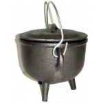 Cast Iron 4.5 Inch Witches Cauldron at Mystic Convergence Metaphysical Supplies, Metaphysical Supplies, Pagan Jewelry, Witchcraft Supply, New Age Spiritual Store