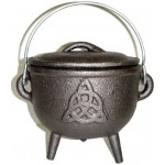 Triquetra Cast Iron 4.5 Inch Witches Cauldron at Mystic Convergence Metaphysical Supplies, Metaphysical Supplies, Pagan Jewelry, Witchcraft Supply, New Age Spiritual Store