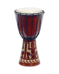 Djembe Drum Carved Red Mahogany Finish - Assorted Designs Mystic Convergence Metaphysical Supplies Metaphysical Supplies, Pagan Jewelry, Witchcraft Supply, New Age Spiritual Store