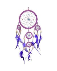 DreamCatcher with Pink Irridescent Beads Mystic Convergence Magical Supplies Wiccan Supplies, Pagan Jewelry, Witchcraft Supplies, New Age Store