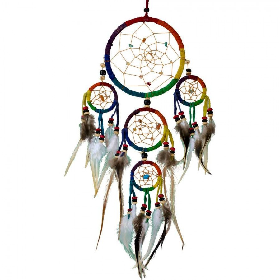 Pictures Of Dream Catchers: Rainbow Leather Dreamcatcher