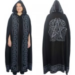 Pentacle Black Hooded Cloak at Mystic Convergence Metaphysical Supplies, Metaphysical Supplies, Pagan Jewelry, Witchcraft Supply, New Age Spiritual Store