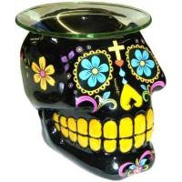 Black Sugar Skull Oil Burner