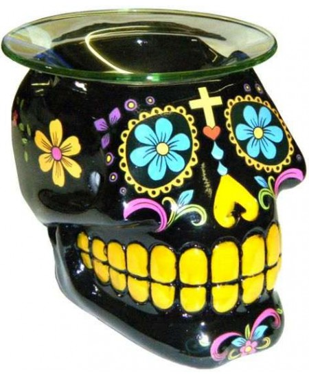 Black Sugar Skull Oil Burner at Mystic Convergence Metaphysical Supplies, Metaphysical Supplies, Pagan Jewelry, Witchcraft Supply, New Age Spiritual Store